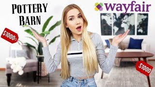 $1000 FURNITURE CHALLENGE | Wayfair VS. Pottery Barn!!