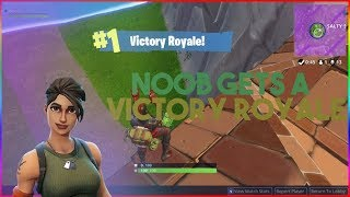 GETTING VICTORY ROYALE AS A NOOB! - TROLLING AS A NUB ON FORTNITE (Fortnite Battle Royale)