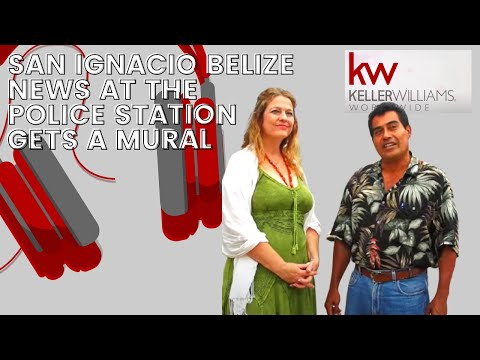 San Ignacio Belize News at the Police Station gets a mural Part 1