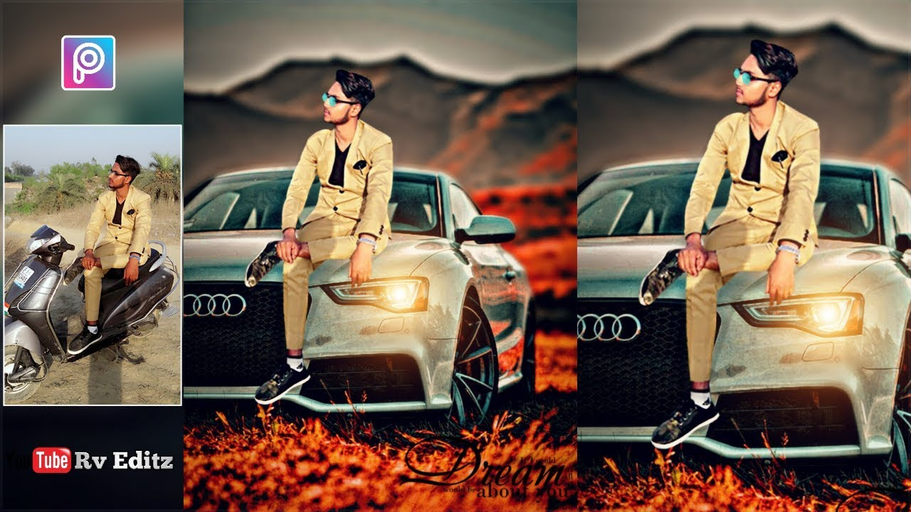 Audi Car Picsart Photo Editing Stylish Boy Real Cb Editing Rv