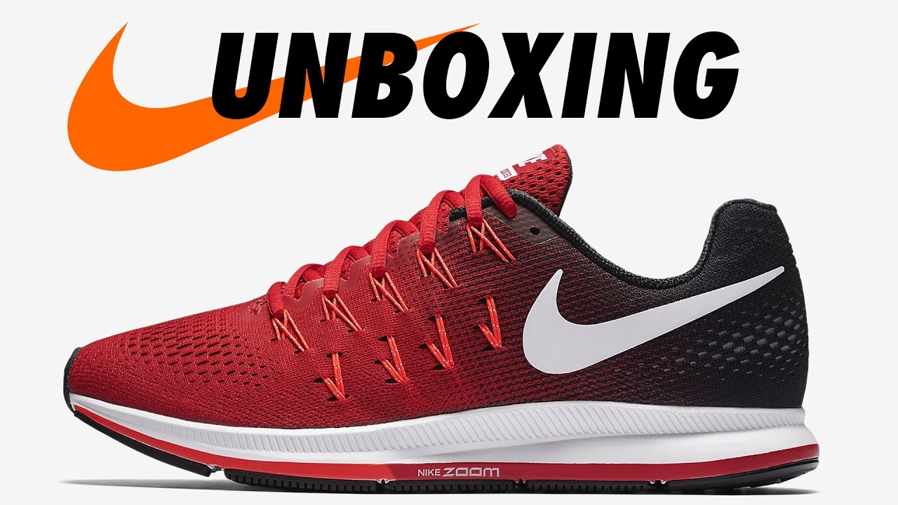 pretty nice 2aaf4 c9831 NIKE AIR ZOOM PEGASUS 33 UNIVERSITY-RED UNBOXING.