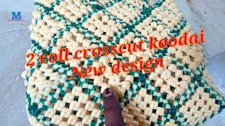 Plastic wire koodai|plastic wire basket| 2 roll crosscut koodai promo