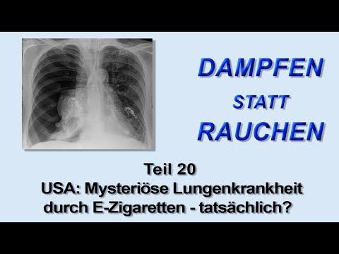 Dampfen Statt Rauchen Teil 20 - Mysteriöse Lungenerkrankung Durch E-Zigaretten - Tatsächlich?