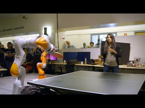 Robo pingpong: Stanford students design, 'teach' robots to play