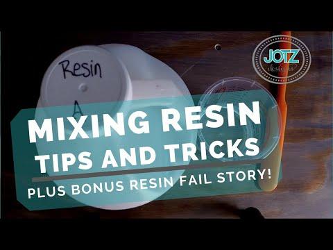 Mixing Epoxy Resin 101, plus bonus resin FAIL story!