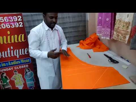 Churidar Ladies Pajami Cutting and Stitching in Professional Way