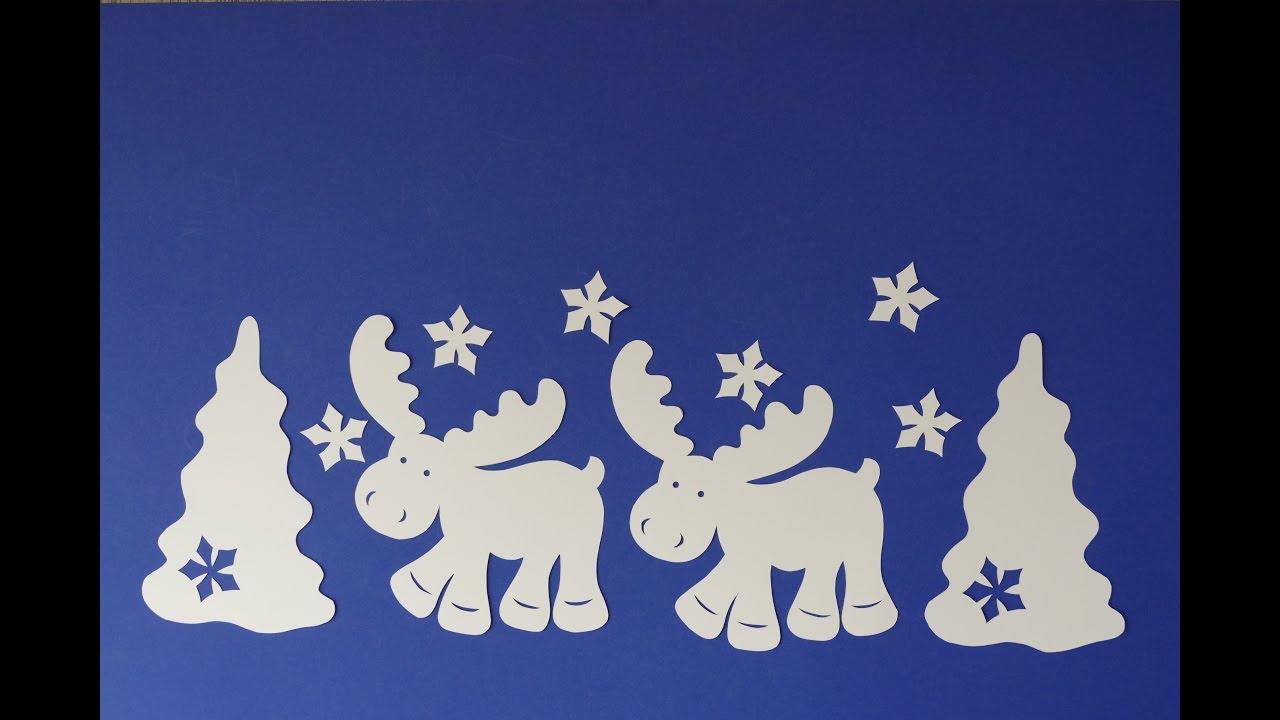 weihnachtsbasteln tiere animals basteln mit papier. Black Bedroom Furniture Sets. Home Design Ideas