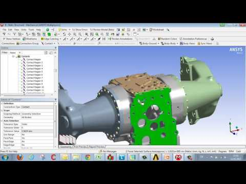 CADFEM Tutorial No 6 – How to Handle Contacts in ANSYS
