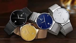 WWOOR Ultra Thin Fashion Luxury Diamond Quartz Ananlog Man Casual Wristwatch