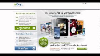 Online Geld verdienen mit ReBuy Sachen verkaufen