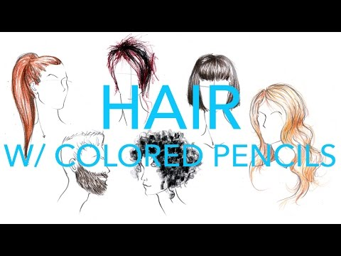 Fashion Illustration Tutorial: Hair with Colored Pencils