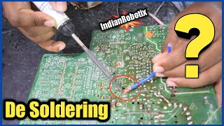 How to Desolder C๐mponents from PCB without Solder Wick or Desoldering Pump | de solder kayse kare