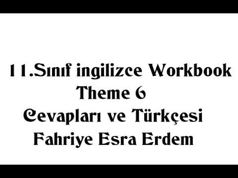 11.Sınıf İngilizce Çalışma Kitabı Theme 6 Cevapları ve Türkçesi MEB 2019