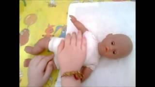 Ариночка-Минусиночка играет с куклой Люсей