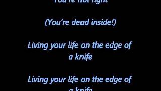 Bullet For My Valentine - Livin' Life (On The Edge Of A Knife) (correct lyrics on screen)