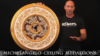 Michelangelo Ceiling Medallions by uDecor