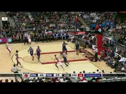 Toronto Raptors Vs Utah Jazz Mar 8 09 Youtube