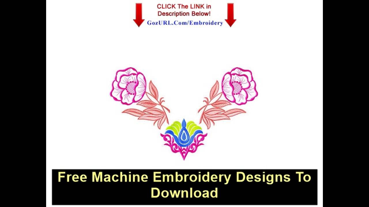 Free Machine Embroidery Designs To Download - YouTube