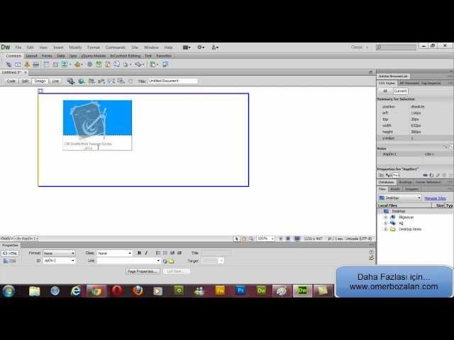 Dreamweaver CS6 Dersleri ( Ders 5) (www.omerbozalan.com)