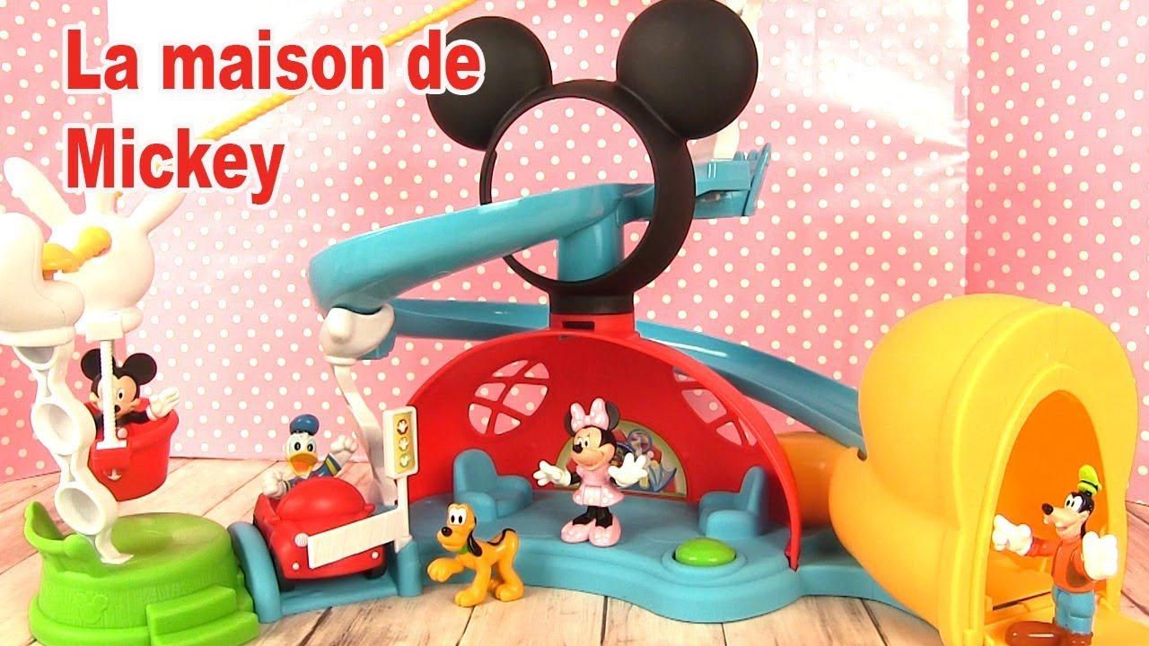 La maison de mickey mouse toboggan et figurines minnie - Donald et dingo ...