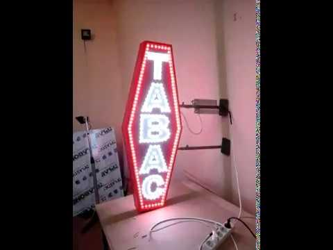 enseigne lumineuse carotte de tabac led 33 6 52172524 youtube. Black Bedroom Furniture Sets. Home Design Ideas