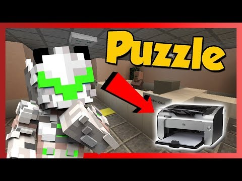 WHERE IS MY PRINTER!? - Whereas in a Parallel Universe Minecraft Custom Map!