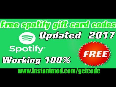 Free Spotify Premium Gift Card Code - Spotify Premium Gift Card Code Free - Spotify Gift Card Redeem