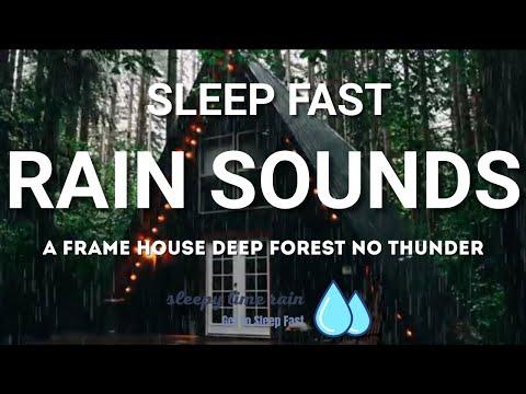 Evening Rain Sounds, Rain Sounds for Sleep, Insomnia, Relaxing, Meditation, Yoga, Study