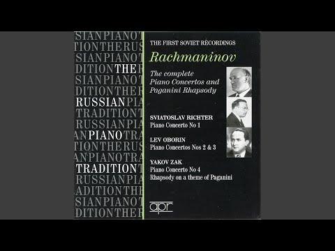 Rhapsody on a Theme of Paganini, Op. 43: Theme. L'istesso tempo
