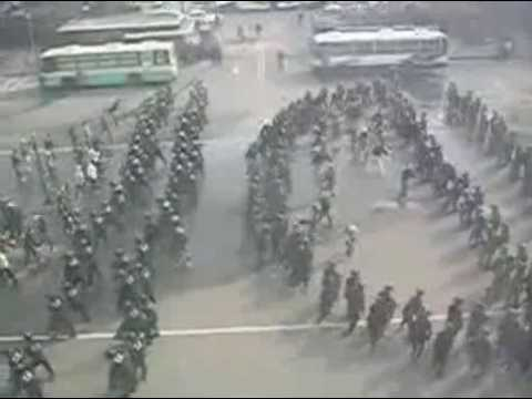 iFun ru video Korean police riot drill