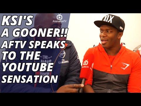 KSI's A GOONER!!! | AFTV Speaks to the YouTube Sensation