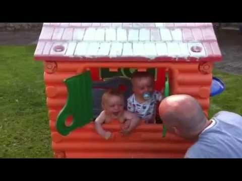 Twin Babies Laughing Hysterically