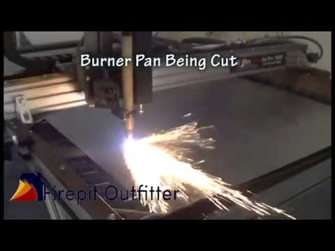 Build Your Own Gas Fire Pit Gas Fire Pit Burner Pan Collar Youtube