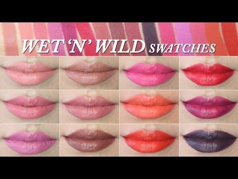 Wet N Wild Megalast Lipstick Lip Swatches (15 Shades)