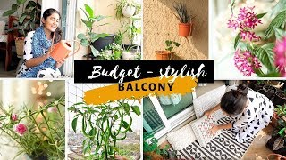 Stylish Balcony on a Budget | Plants and Decor (Diwali Special)