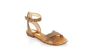 "Isola ""Mahari"" Flat Sandal with Metal Toe Rand"