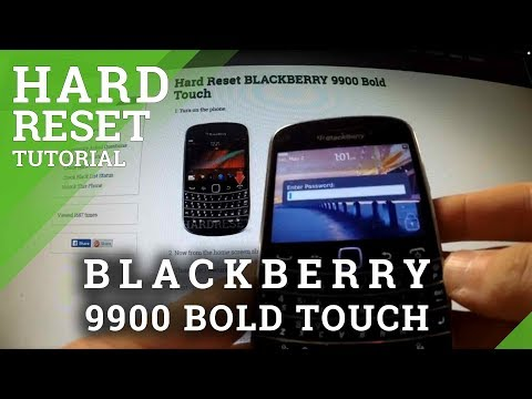 Hard Reset Blackberry 9900 Bold Touch - Remove Password Protection