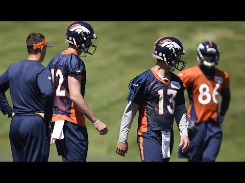 Broncos quarterbacks Paxton Lynch and Trevor Siemian talk minicamp