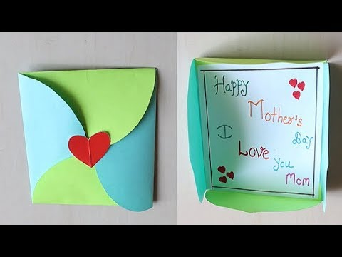 DIY - Easy Mother's Day Card Making Idea | Mother's Day Cards #Mothersdaycard | DIY Gift Envelope