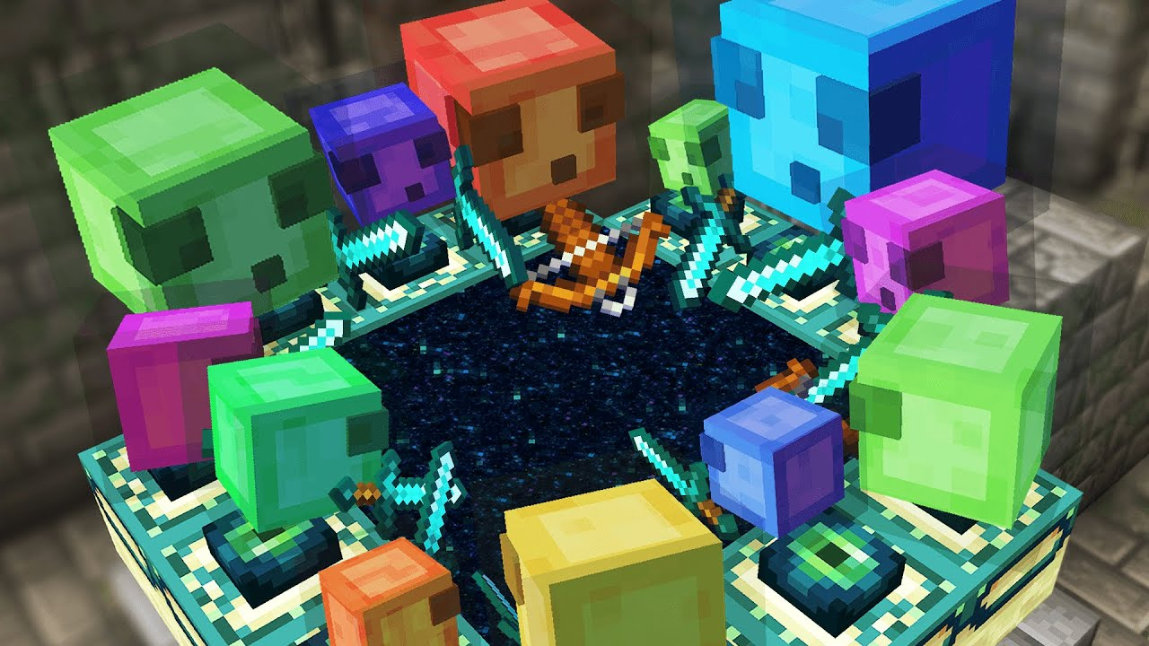 Minecraft But Slimes Beat the game for you...