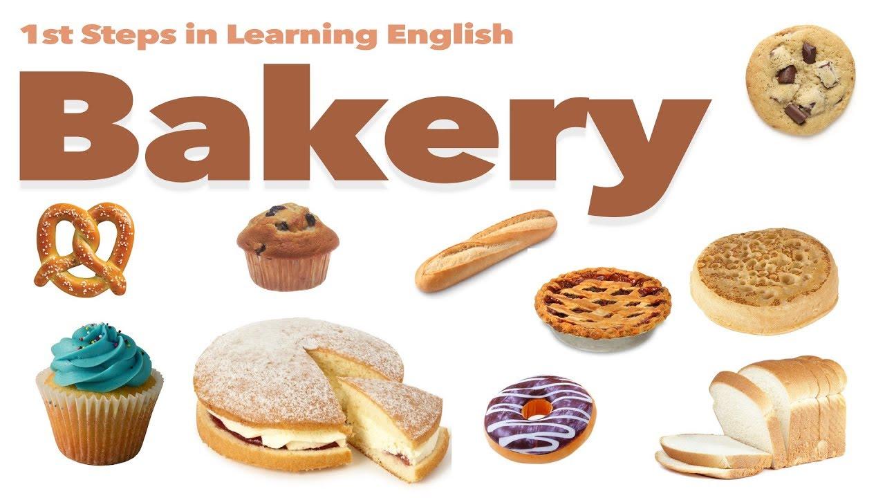 English Vocabulary - BAKERY - FOOD - YouTube