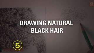 How To Draw Natural Black Hair (touchable Textures #6)