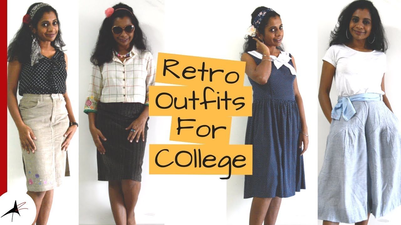 Retro Style Outfit Ideas For College & Office  Arpitharai