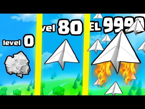 HOW STRONG IS THE FASTEST HIGHEST LEVEL PAPER PLANE EVOLUTION? (9999+ SPEED) l Paper Plane Planet