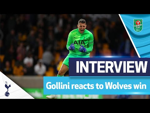 Our penalty hero!  |  Gollini post-match interview |  Wolves 2-2 Spurs (2-3 on penalties)