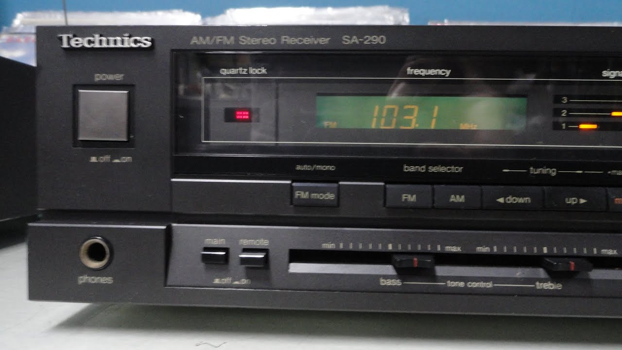 O Rei do Som - Receiver Technics SA-290