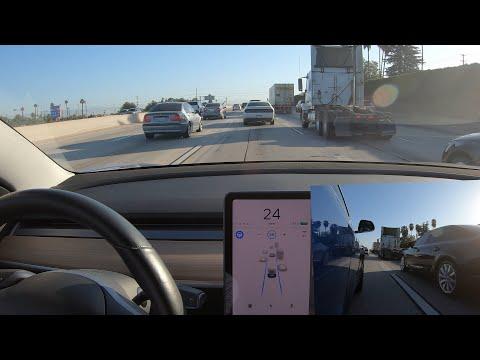 Tesla Autopilot exhibits extra-defensive behavior while overtaking large trucks