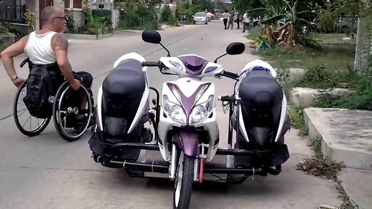 Trike Motorbike For Wheelchair Hua Hin Thailand Youtube