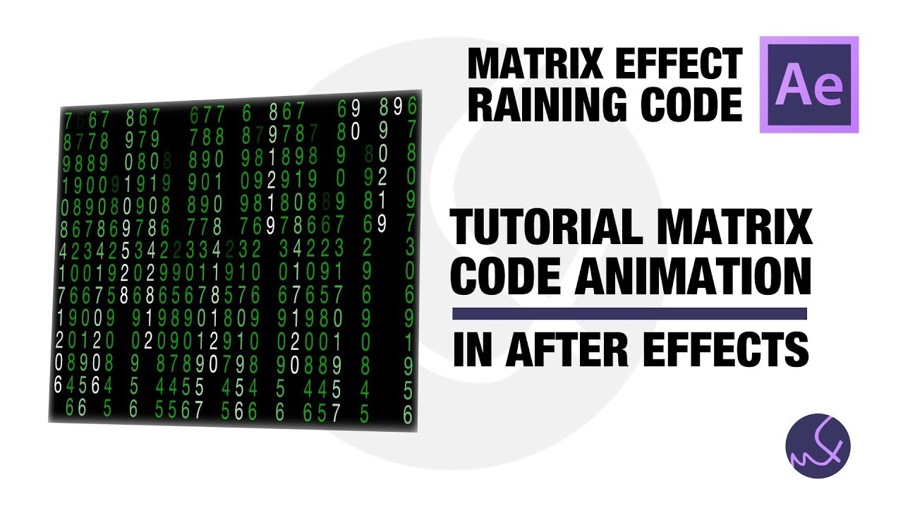 Tutorial matrix raining code after effects youtube tutorial matrix raining code after effects baditri Images