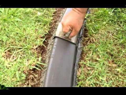 Cheap garden edging ideas - YouTube on Backyard Border Ideas id=92505